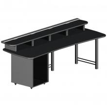 91 Max Rack Rail multiple monitor desk with rack mount