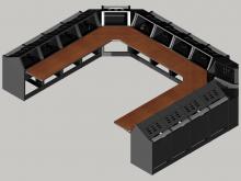 14 bay U shaped Logic System control room console