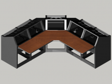 Logic System corner control room console