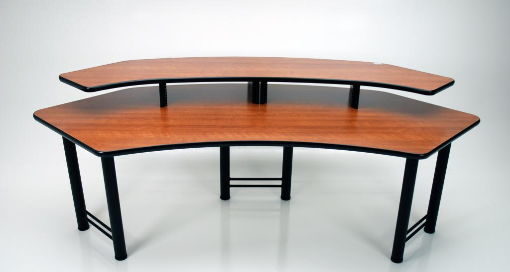 Corner desk cr89 martin ziegler cr89 corner edit desk in amber cherry watchthetrailerfo