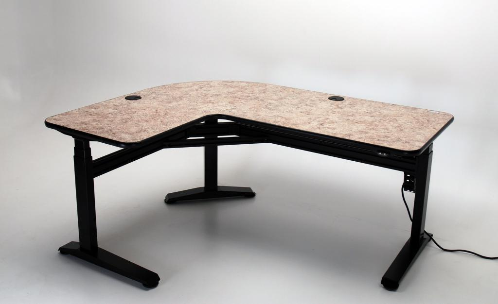 Ergo L Height Adjule Shaped Desk