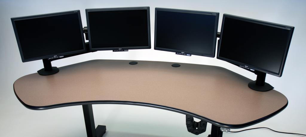 Corner Desk Multiple Monitors Easy Home Decorating Ideas